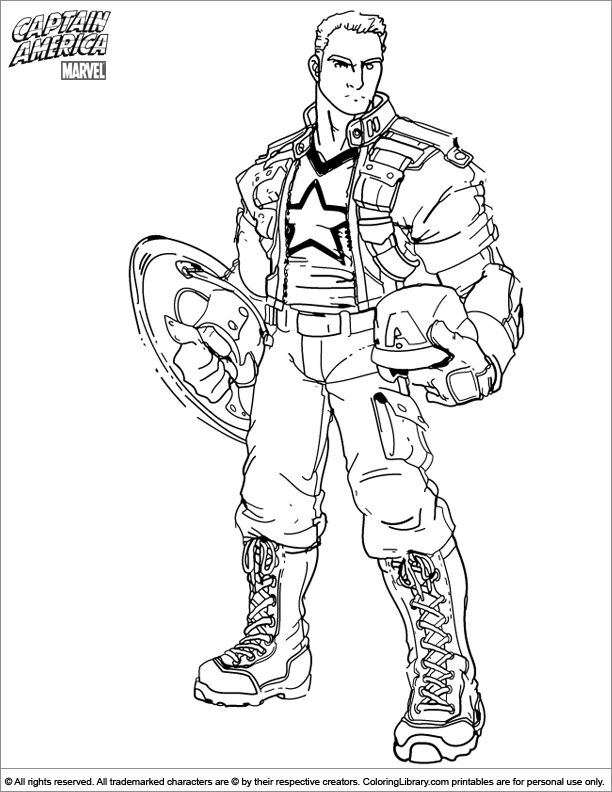 Captain America coloring for boys  Coloring pages  Pinterest