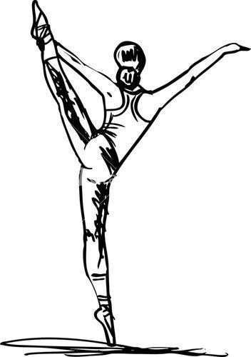 Sketch Of Ballet Dancer. Vector Illustration