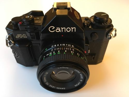 #Canon a-1 film #camera & #canon fd 50mm f1.8 lens - near mint condition,  View more on the LINK: http://www.zeppy.io/product/gb/2/351897019650/