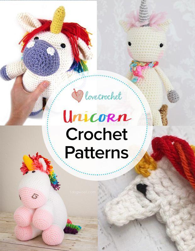Pinteresting Projects: unicorn crochet patterns | Unicornios, Tejido ...