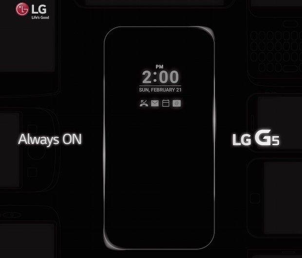 LG confirma modo Always On para el LG G5