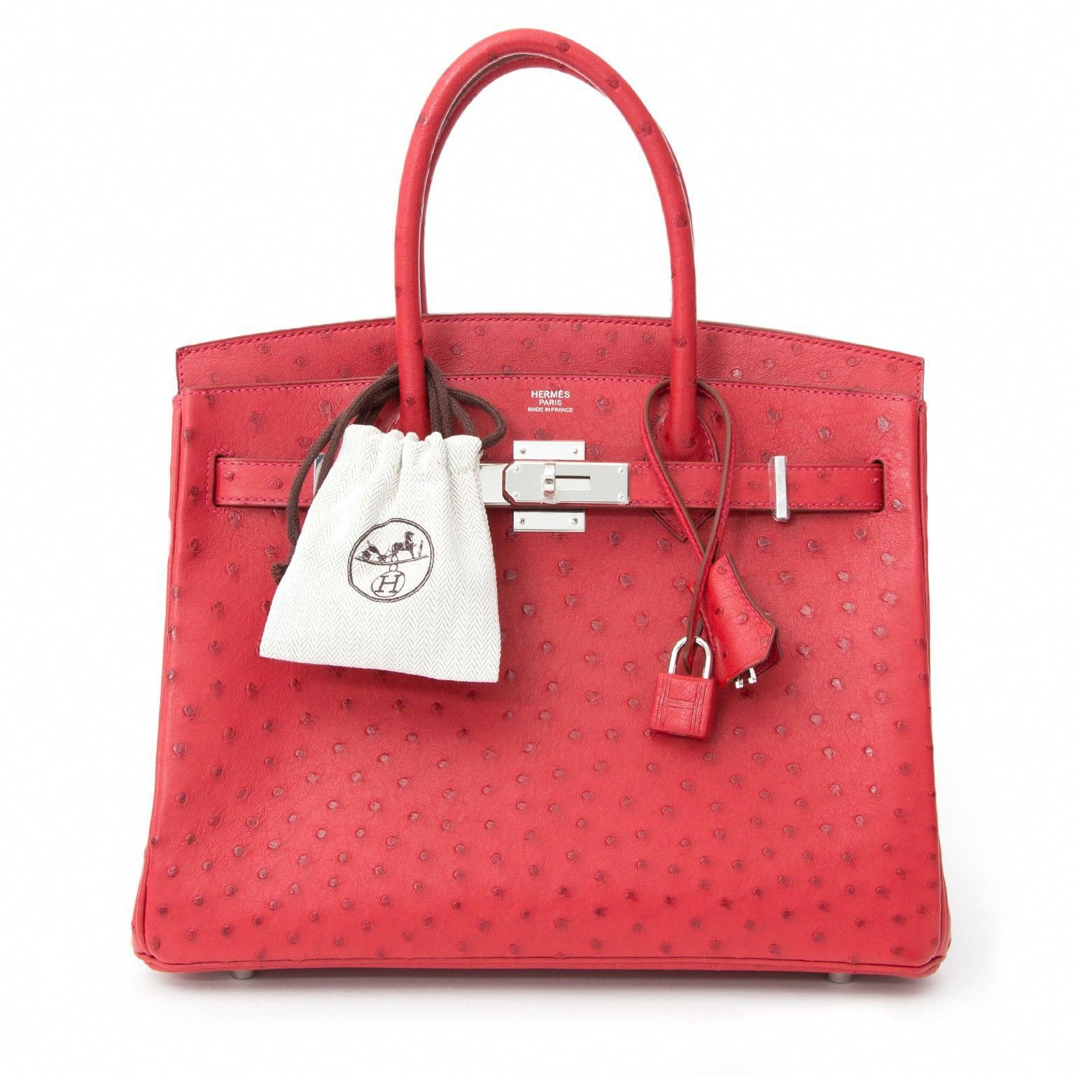Hermes Ostrich Birkin 30 Rouge Vif Buy Authentic Secondhand Hermes Bags At The Right Price At Labellov Vintage Webshop S Hermes Handbags Birkin Hermes Birkin