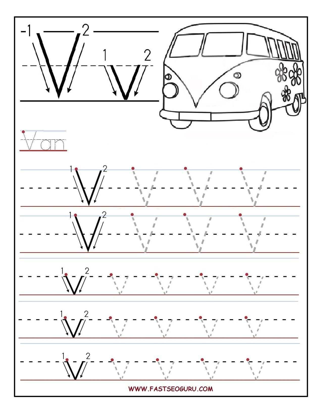 Tracing Letters For Nursery In