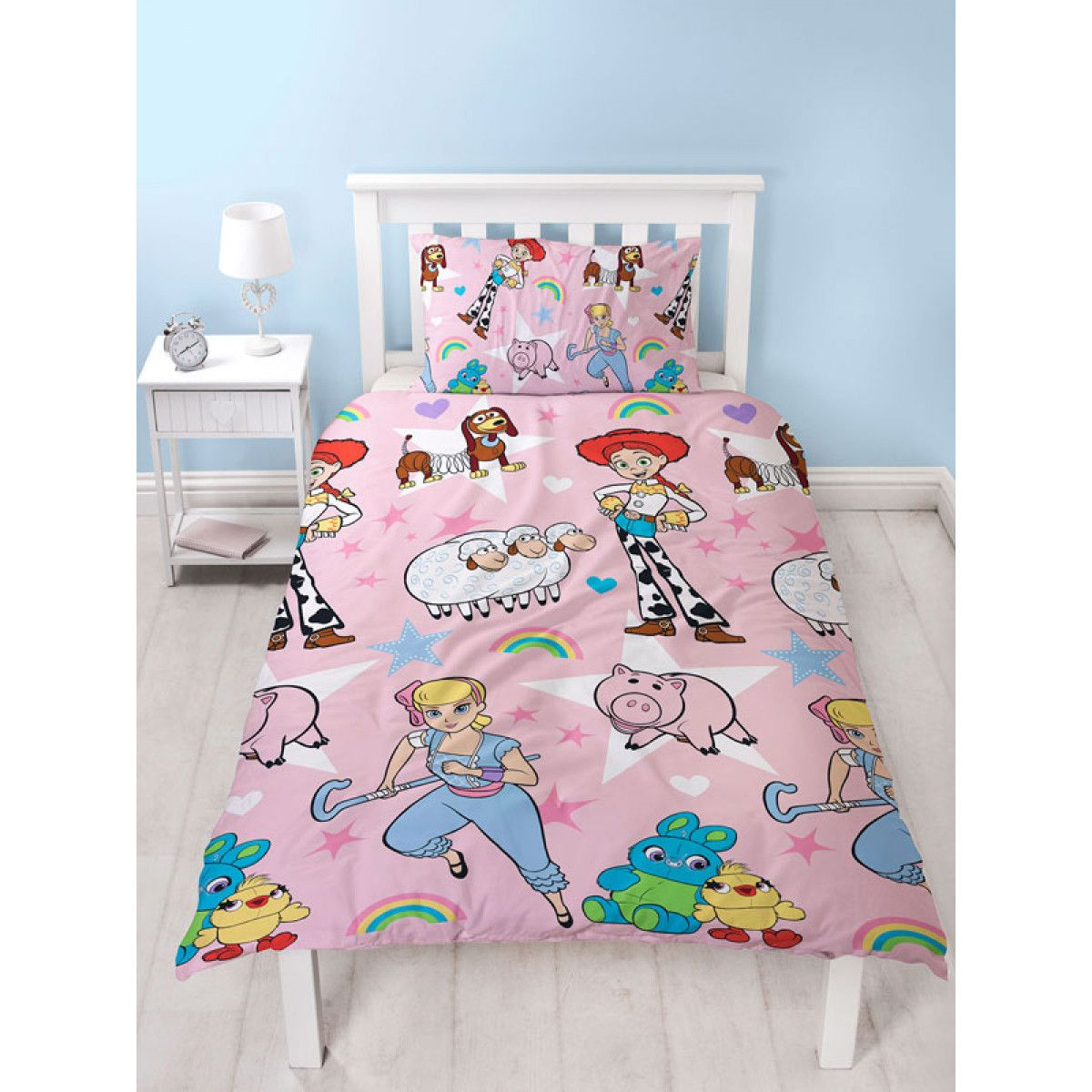 DISNEY GIRLS BOYS KIDS CHILDREN TV CHARACTER JUNIOR TODDLER DUVET COVER SET NEW