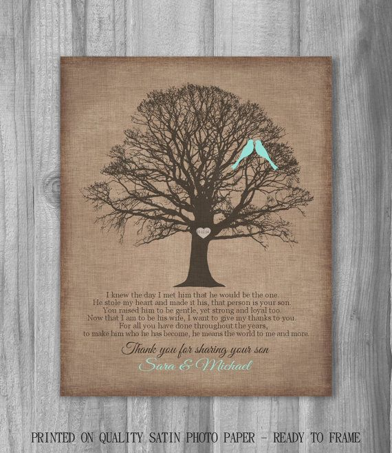 Gift For Mother Of The Groom From Bride Canvas Print