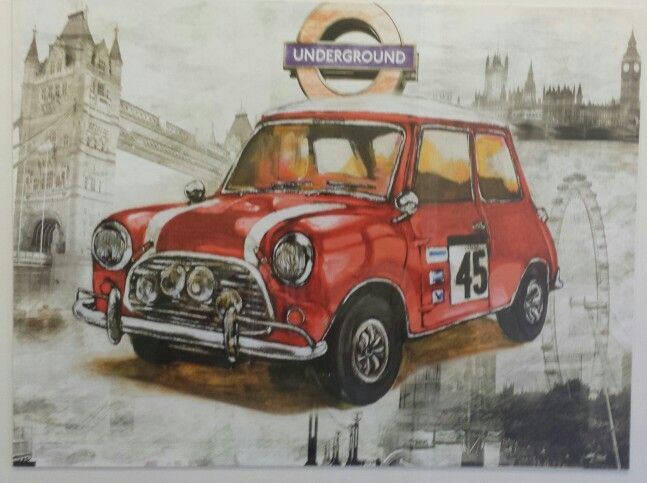 Classic Rally Mini Cooper Painting
