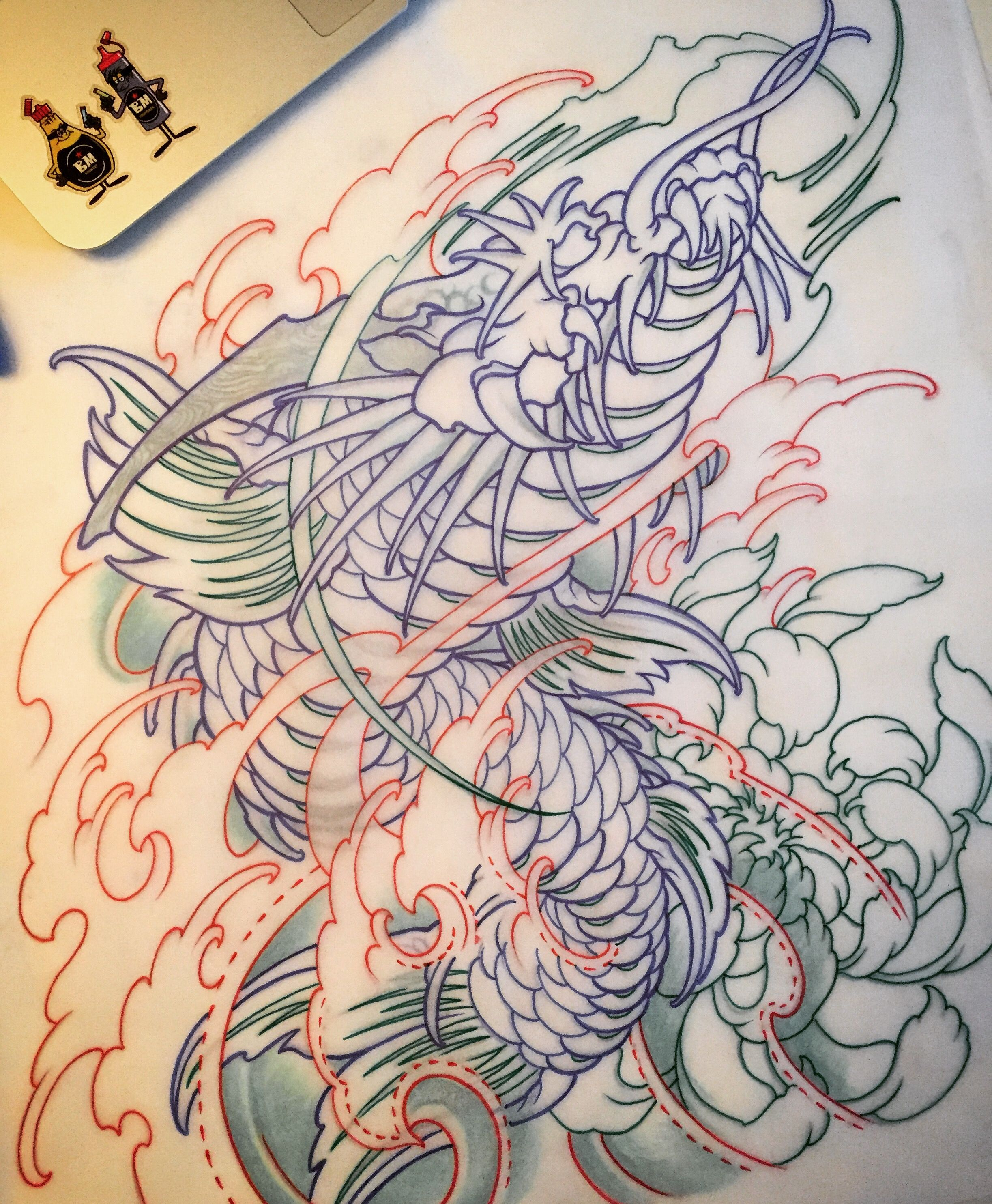 Amsterdam tattoo 1825 kimihito koi dragon japanese style for Japanese koi design