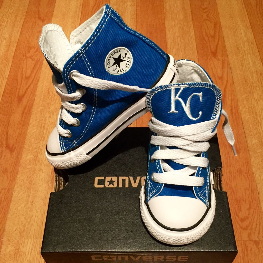 2518a7322fa5dc Customized Converse Sneakers- KC Royals (Toddler)