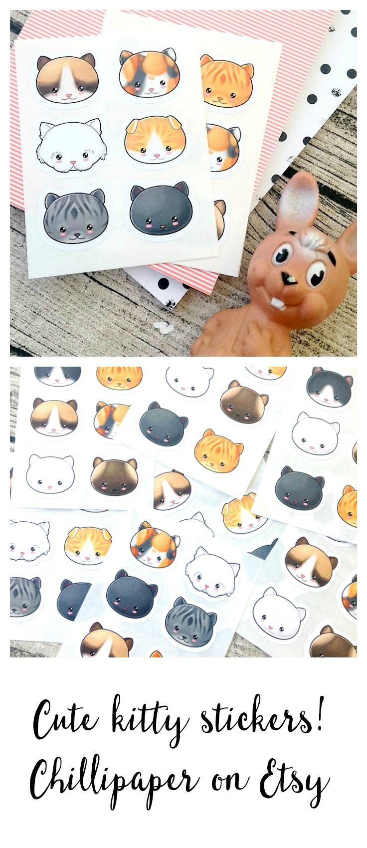 Kawaii cat stickers #1059 Kawaii stickers Cute cat Stickers Kawaii kitty