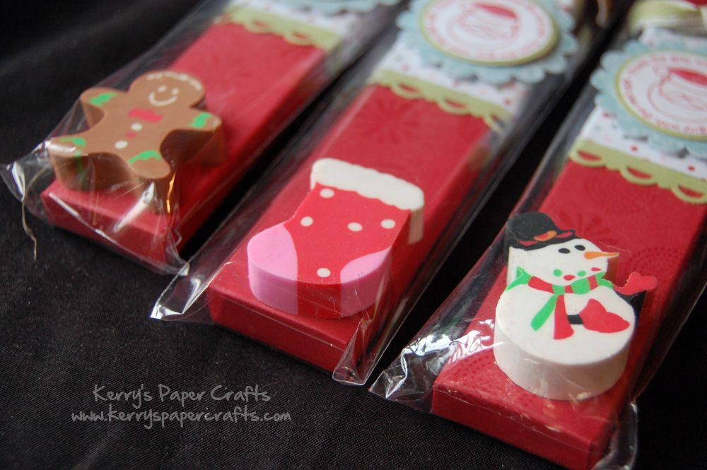 Christmas Fair Craft Ideas Part - 20: Christmas Stamped Pencil Packs. Made Some Of These For My Sonu0027s Christmas  Party @ School. I Used A Snowflake Stamp Instead. SO Cute And Easy!