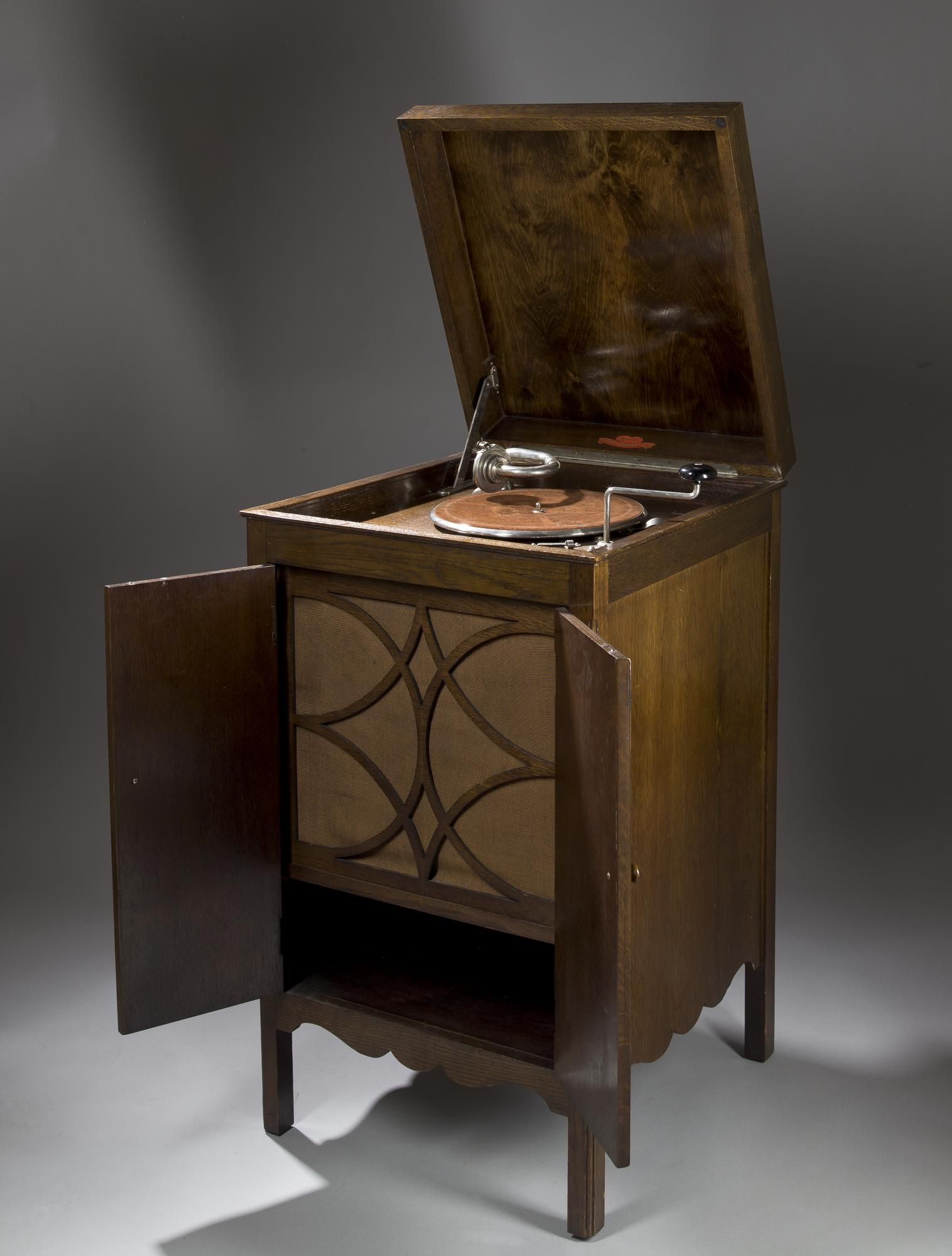 Wood Light Fittings Multigram Cabinet Gramophone Made By The Cowey Engineering