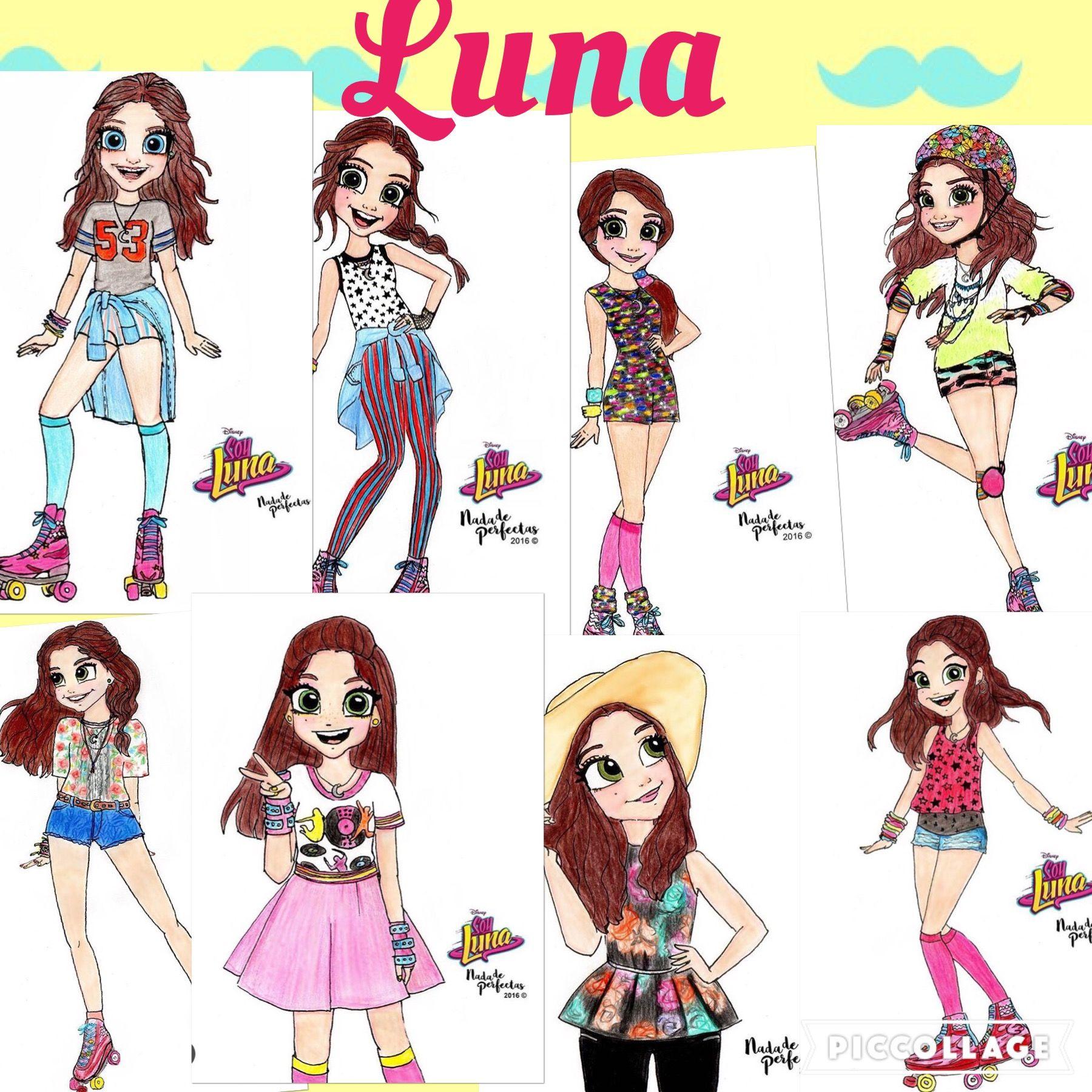 Luna en todas las partes de su vida  Personajes de soy luna