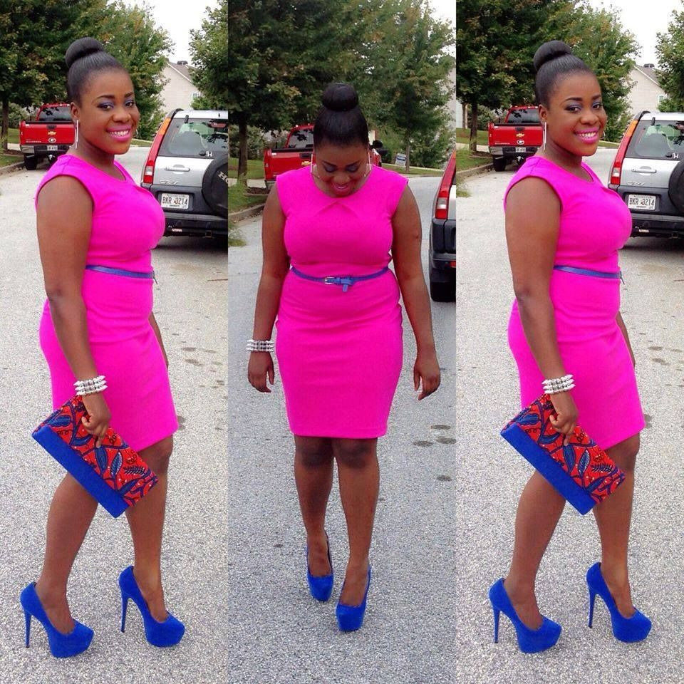 Colors That Go Well With Pink hot pink & royal blue go well together | love that outfit