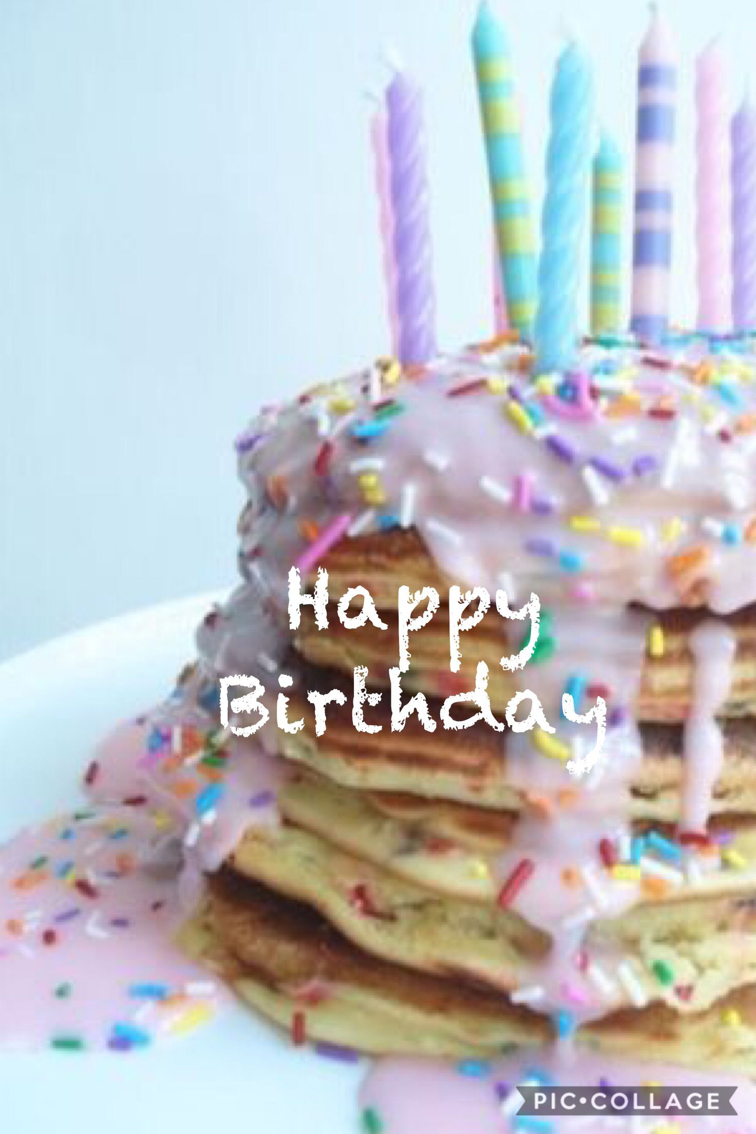 Pleasing Happy Birthday Birthday Pancakes Sprinkles Recipe Birthday Personalised Birthday Cards Veneteletsinfo