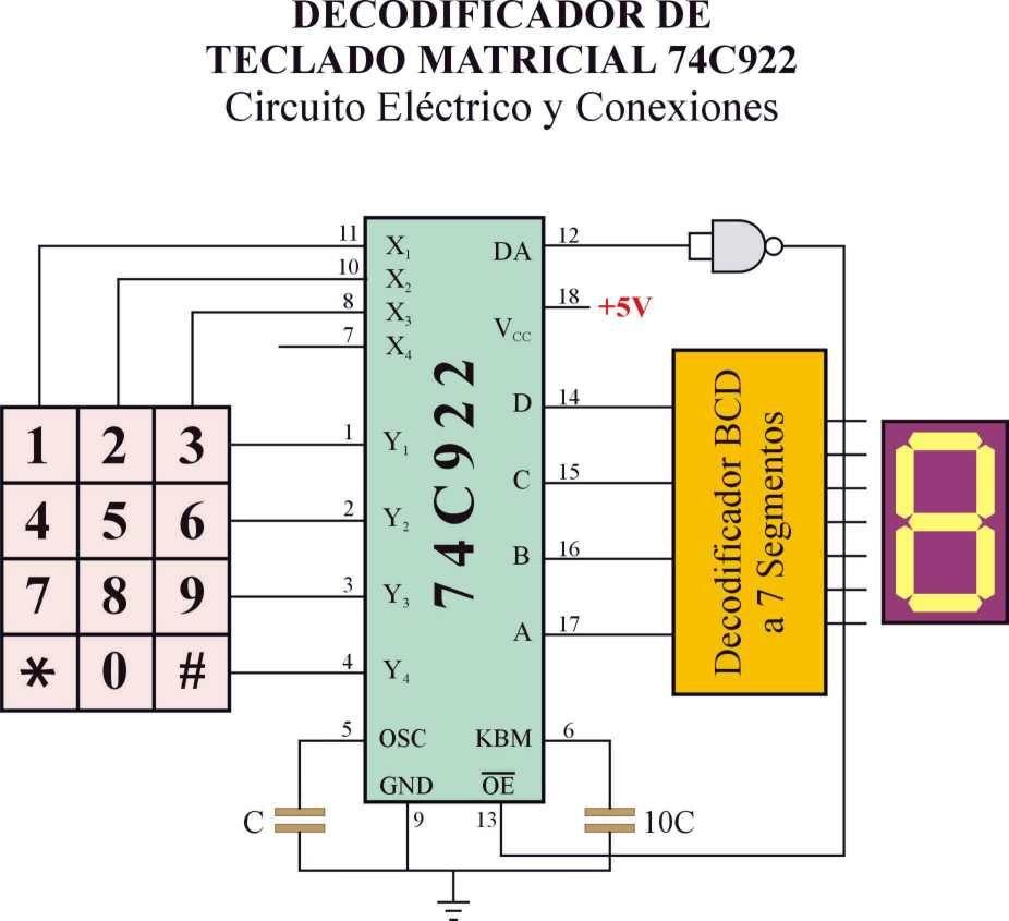 4x4 keypad to 4bit abcd converter entegreler pinterest rh pinterest com  circuit diagram boolean expression (ab+c)d