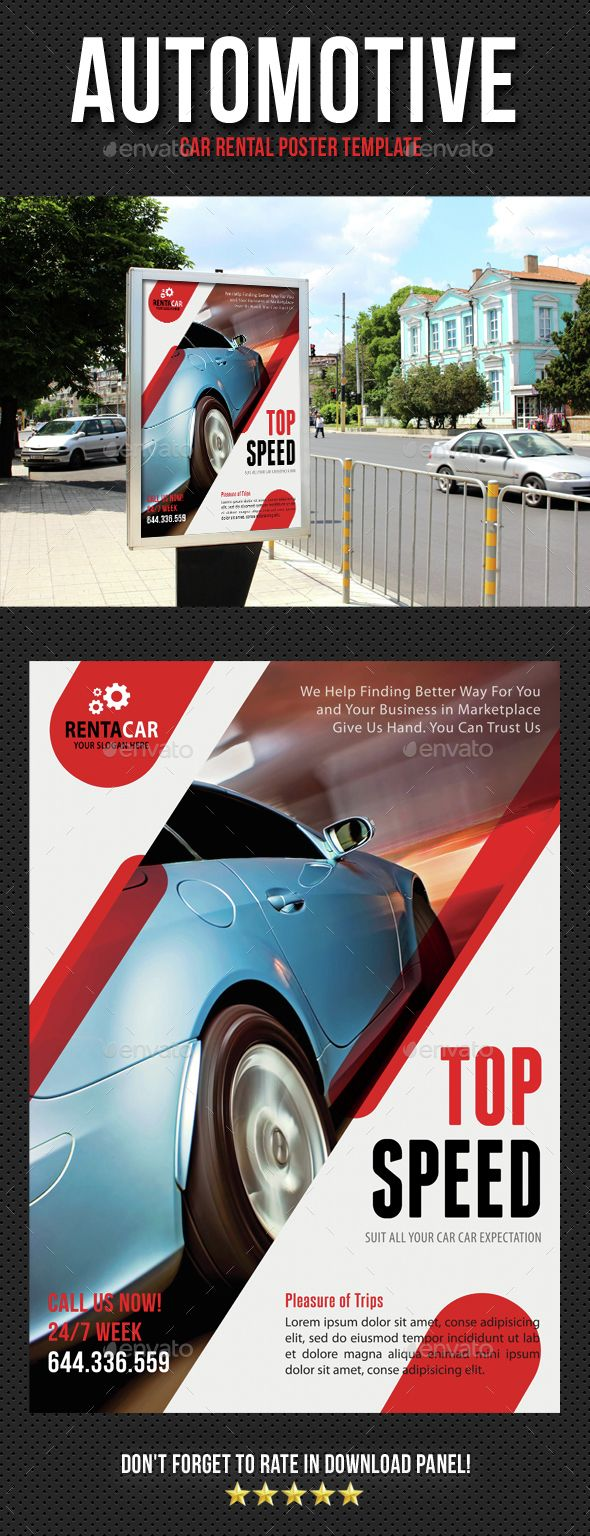 Poster design download - Automotive Car Rental Poster Template Psd Download Here Http Graphicriver