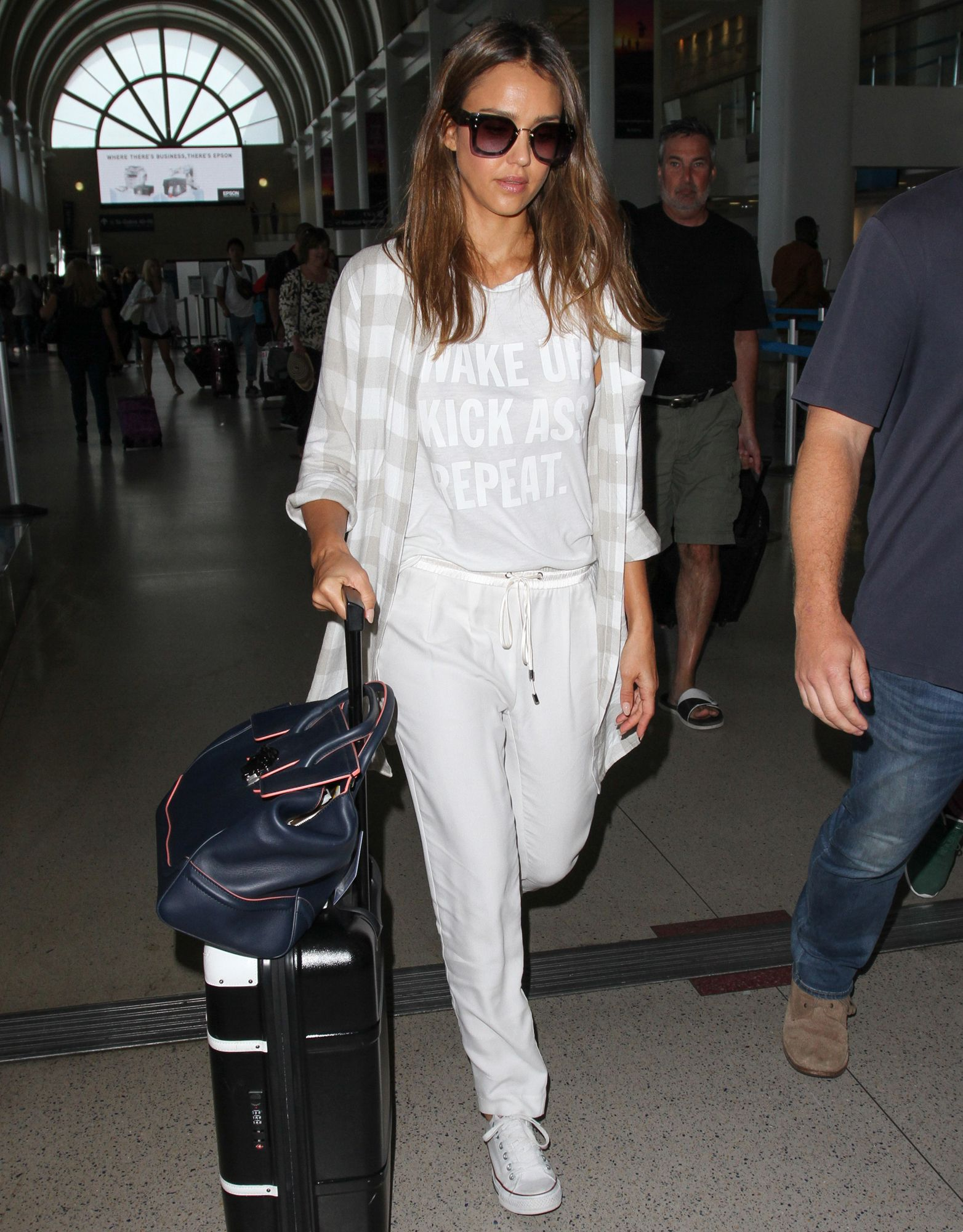 Image result for jessica alba in the airport