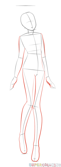 how to draw an anime boy body step by step