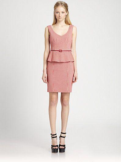 Look 23: Nanette Lepore Desert Peplum Dress
