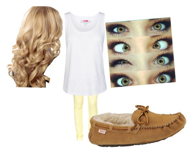 """""""quick styles fnaf: human chica"""" by musicjunkie2213 ❤ liked on Polyvore featuring Great Plains, Slippers International and adidas"""