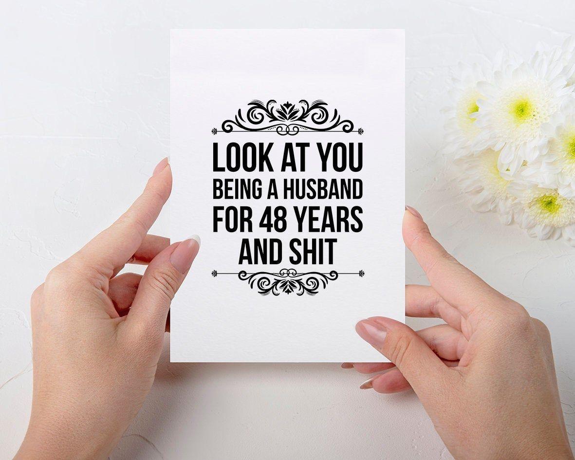 48 year anniversary card 48 year anniversary Gift for
