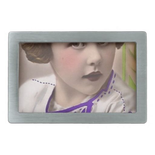 free vintage printable - sweet tinted girl photo.j rectangular belt buckle