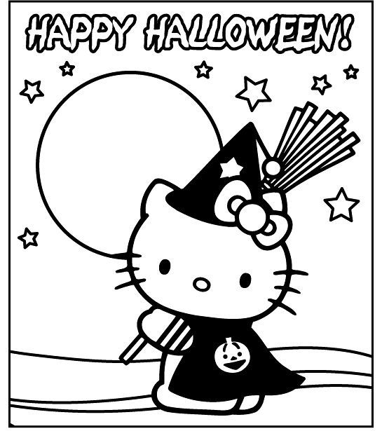 Pin By Coloring Fun On Hello Kitty Hello Kitty Colouring Pages Hello Kitty Coloring Hello Kitty Halloween