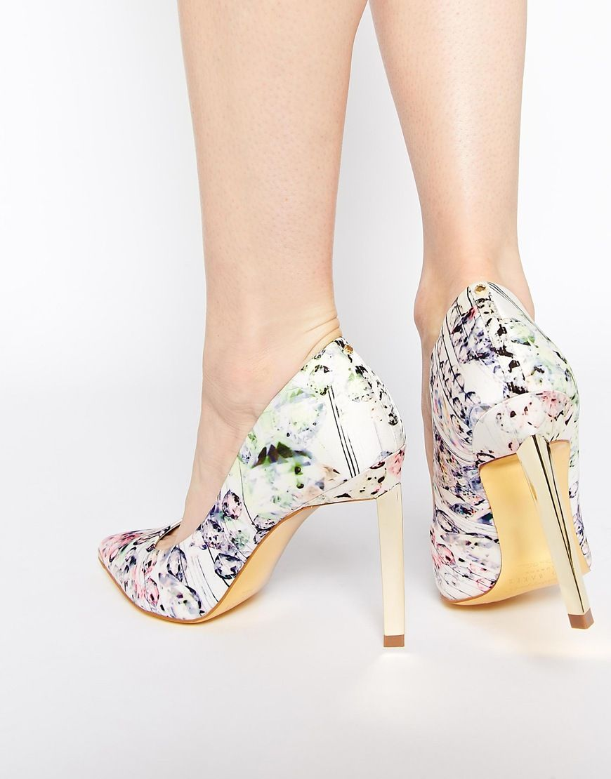 0640d193de These would look great with my new dress! Ted Baker Adecyn Floral Print  Court Shoes