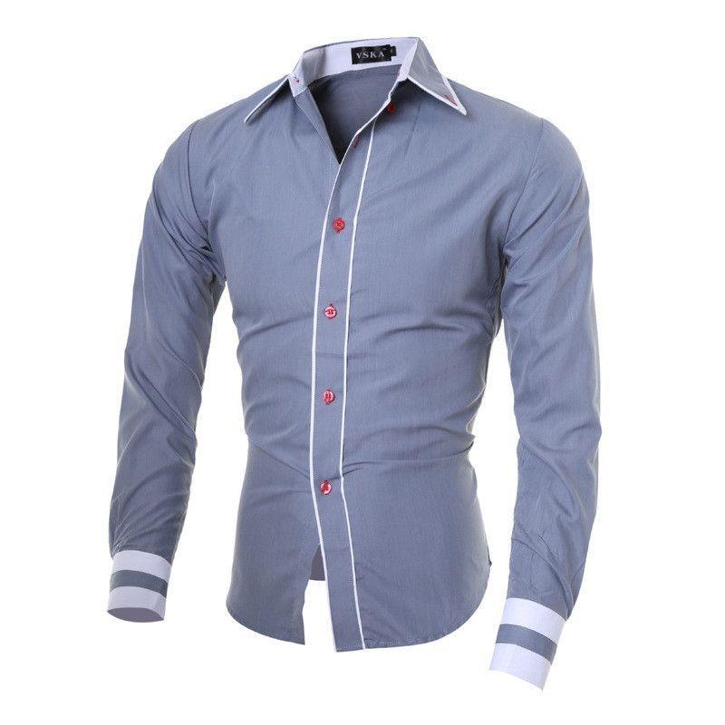 Fashion Long Sleeve Casual Men Shirt  694d3515eb9