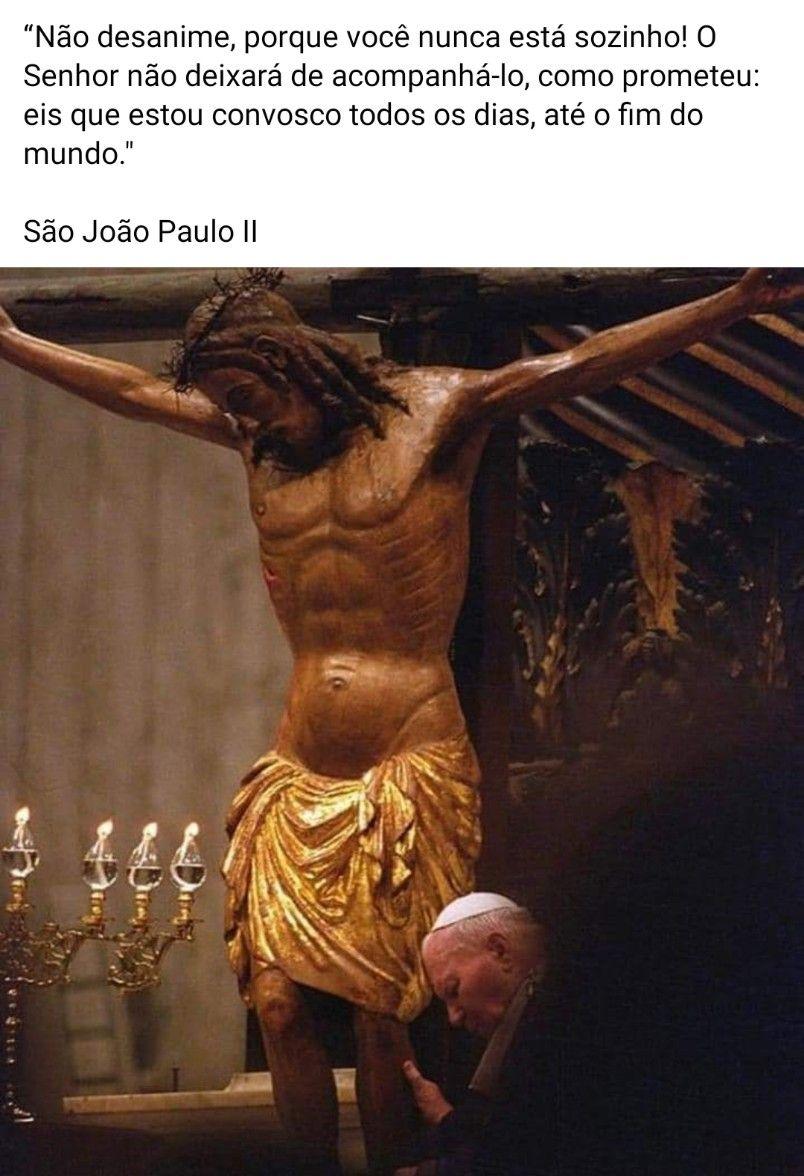 """""""Não desanime, porque você nunca está sozinho! O Senhor ..."""