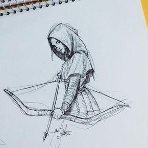 Wie ein Rotkäppchen verschmolzen mit The A ... #Bleistiftzeichnung Wie ein, #artsketchesp...
