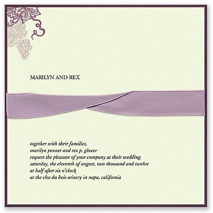 Winery Wedding Invitation by Checkerboard
