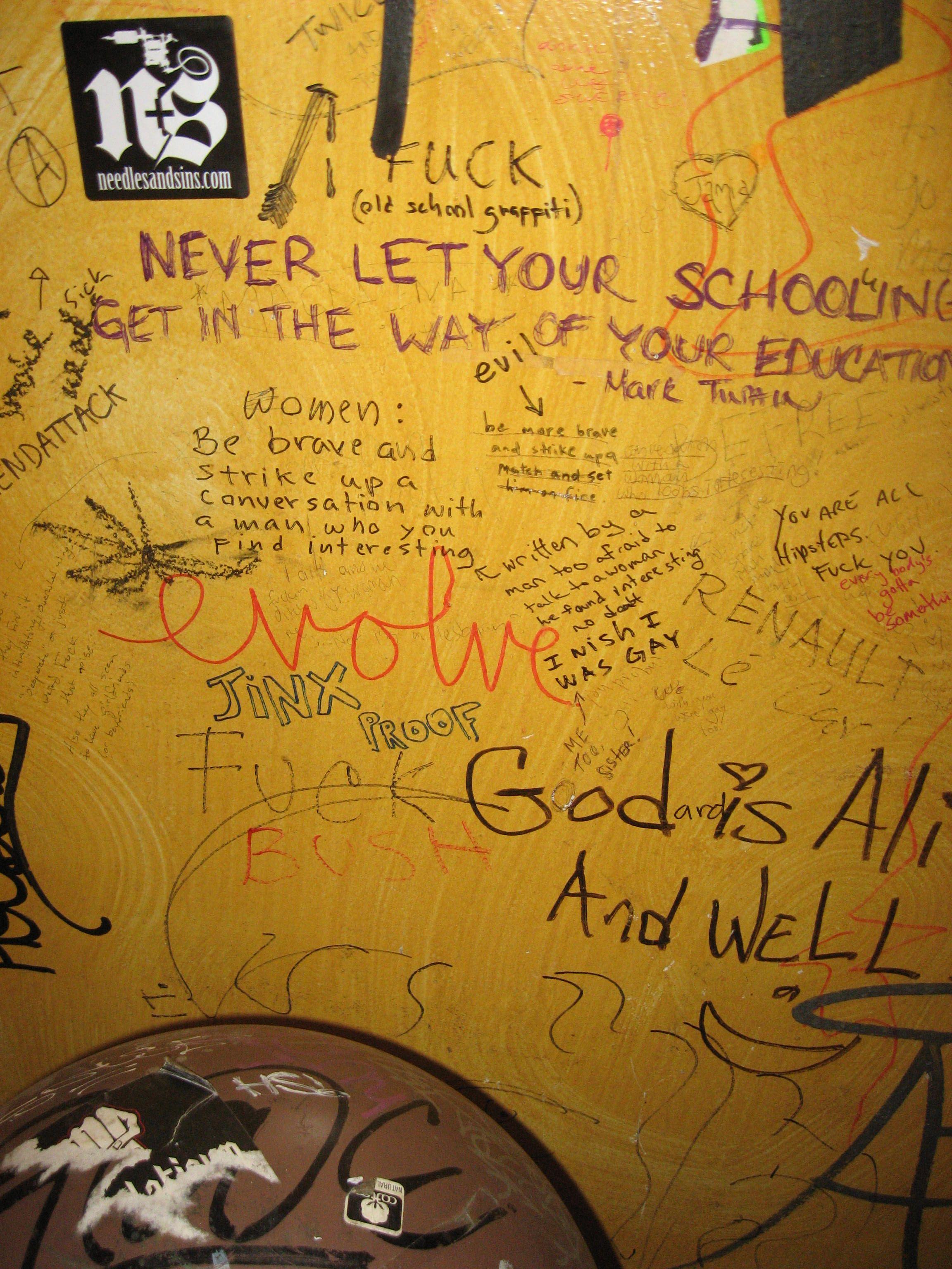 Graffiti D Public Toilets Nyc