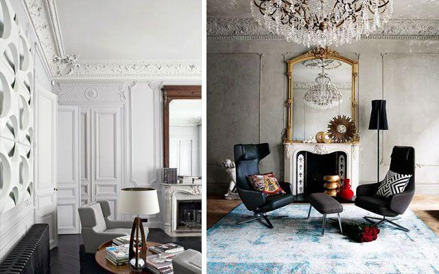 Rosetones y molduras de techo cl sicas para casas for Decoracion de casas clasicas