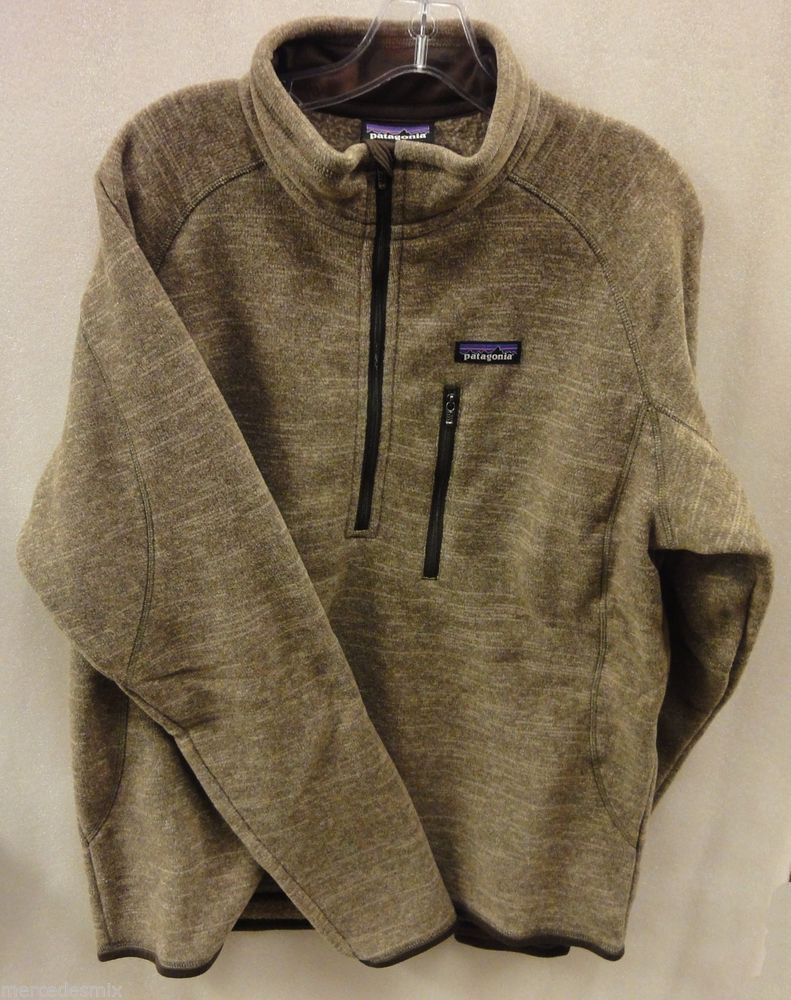 Patagonia mens better sweater zip fleece pullover pale