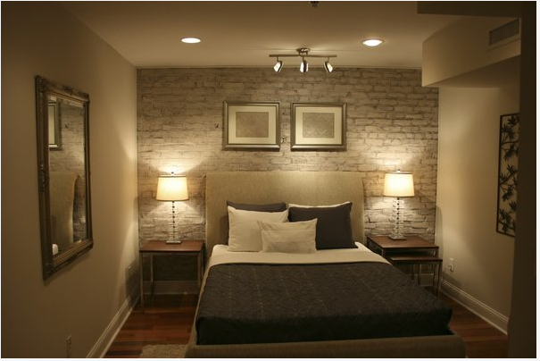 Simple Bedroom Without Windows Basement Master Bedroom, Basement Guest  Rooms, Brick Wall Bedroom,