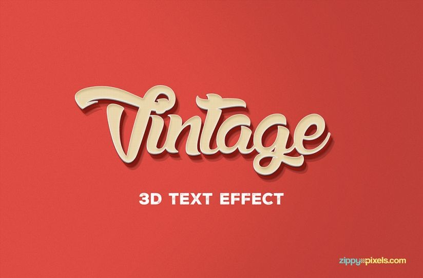 Free Psd 3d Text Effect Zippypixels 3d Text Effect Text Effects 3d Text