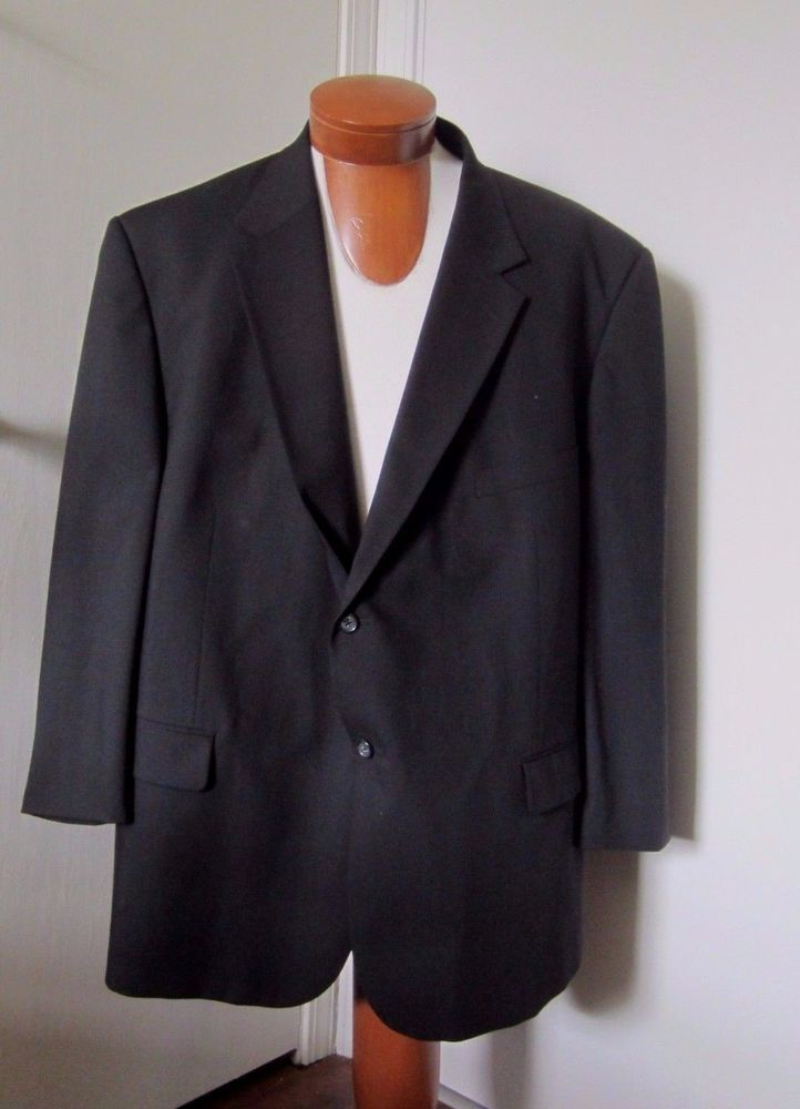 Details about Pronto-Uomo Mens Suit Sport Coat Black Size 54 ...