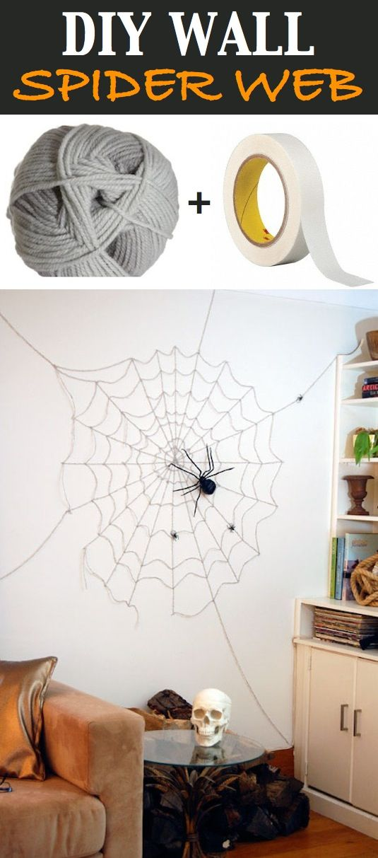 Easy Diy Spiderweb Looks Good Cheap And Easy Need Double Sided