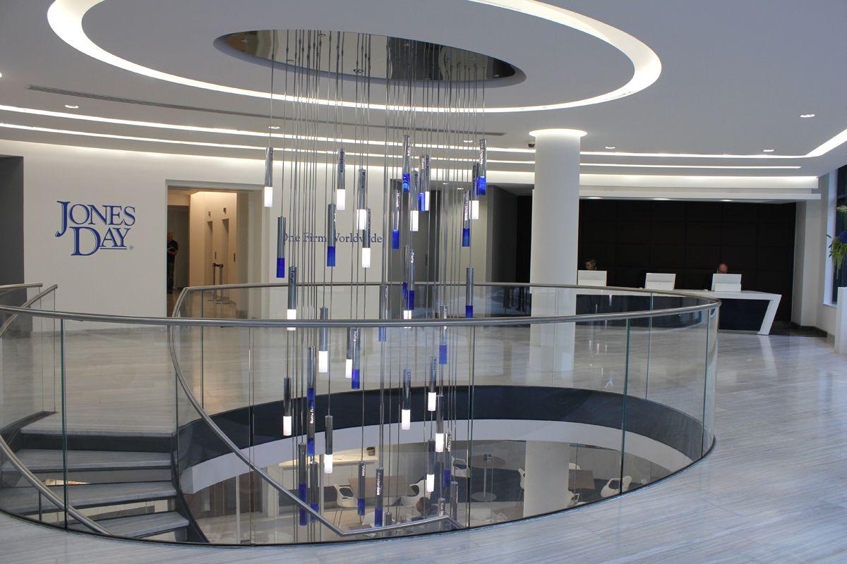Bespoke Atrium Chandelier Jones Day London Commercial office – Commercial Chandelier