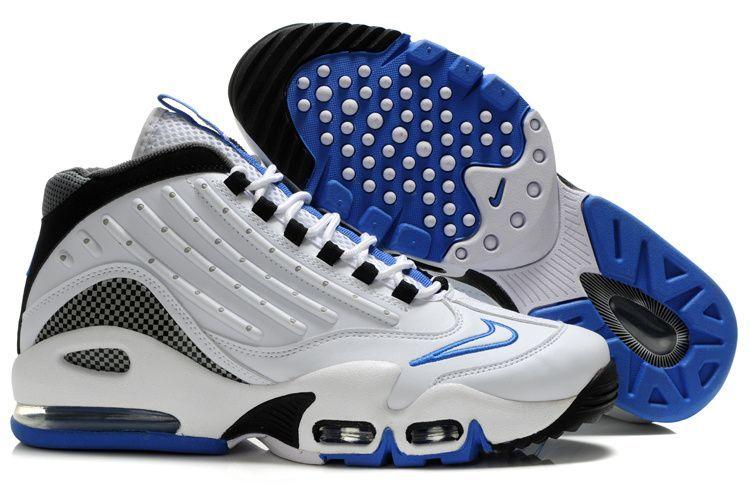 competitive price 48edb 44d9e Nike Air Griffey Max 2 Shoes Black White Blue