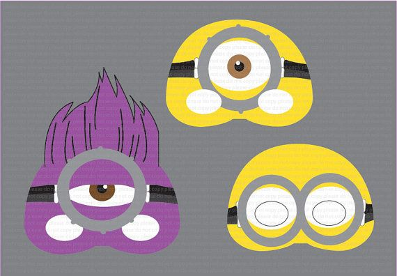 Instant dl despicable me 2 mask photo booth props set minion party instant dl despicable me 2 mask photo booth props set minion party mask maxwellsz