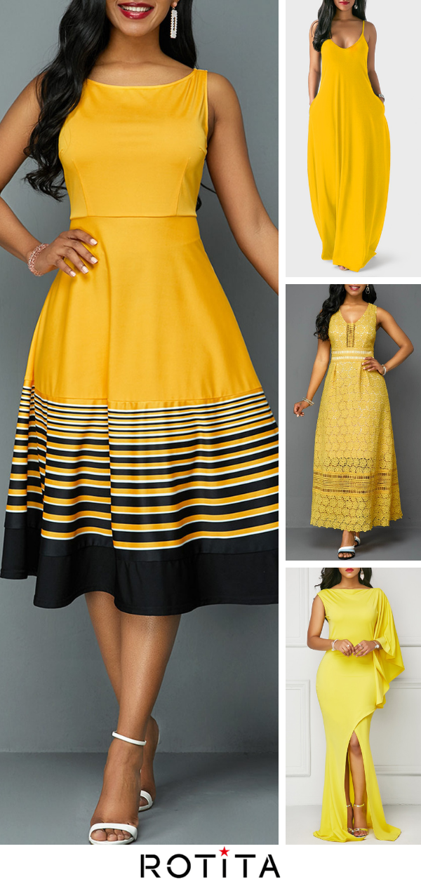 Sexy and sweet at the same time, these pretty yellow dresses are perfect for any special occasion or memorable event Pair it with pointy toe pumps and a small clutch for a gorgeous look! is part of New Years nails Design - New Years nails Design