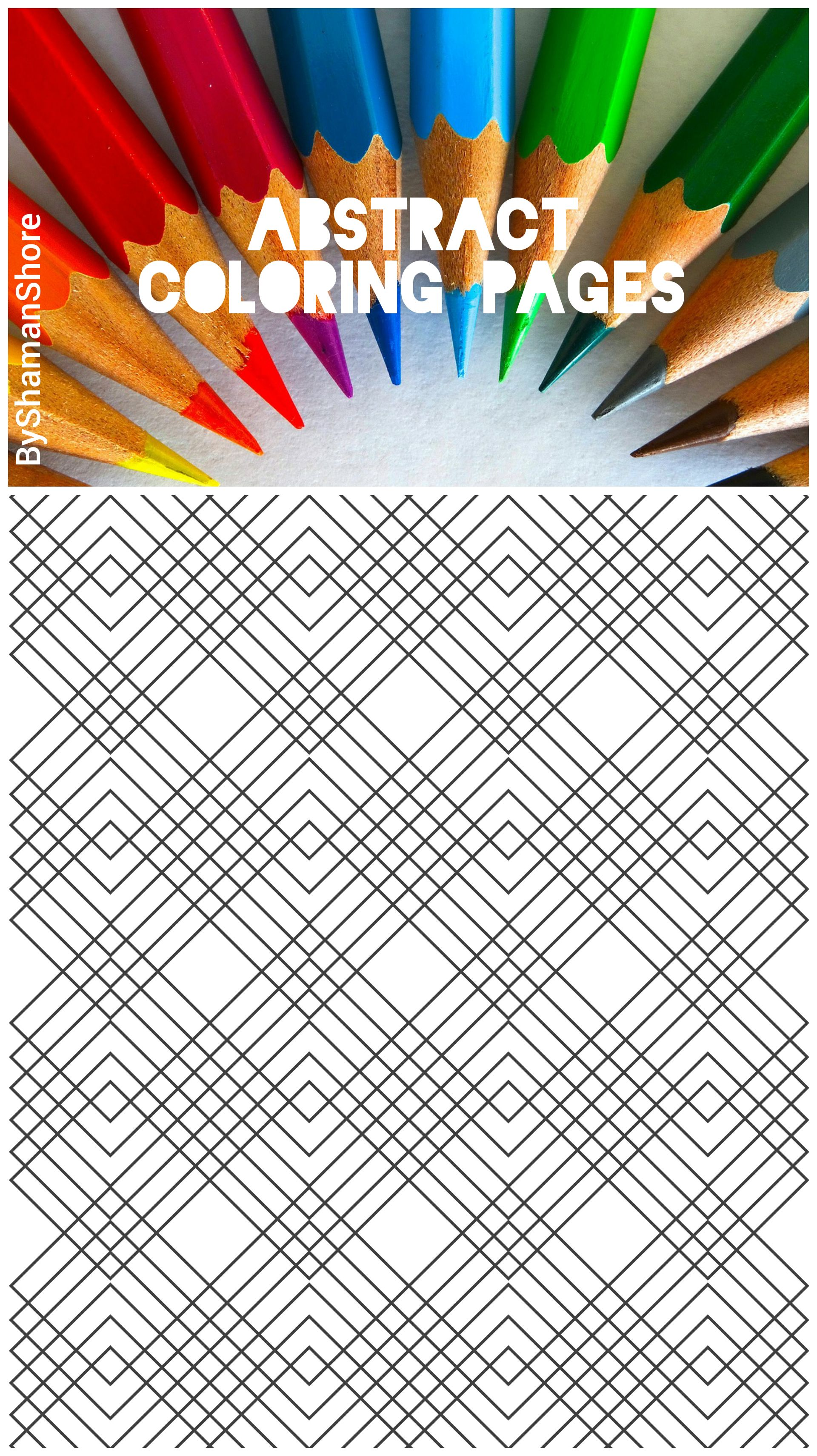 Abstract coloring pages for grown ups printable adult coloring pages digital adult coloring book on etsy abstract geometric coloring pages pdf