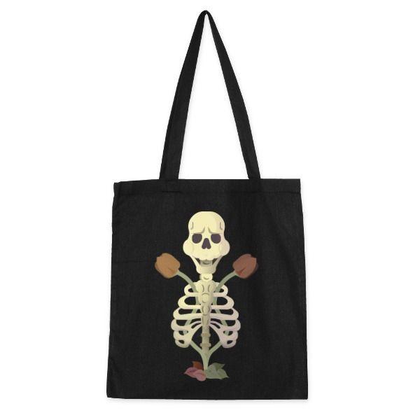 Bolso de tela Esqueleto like old style. Bolso de algodón con diseño del artista Tierra. Compra miles de productos originales en Señor Cool.