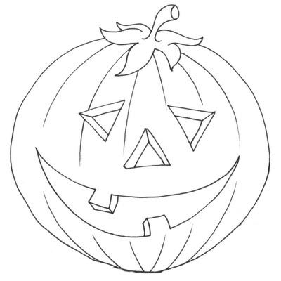 Printable Halloween Decoration Cutouts Pumpkin Coloring Pages