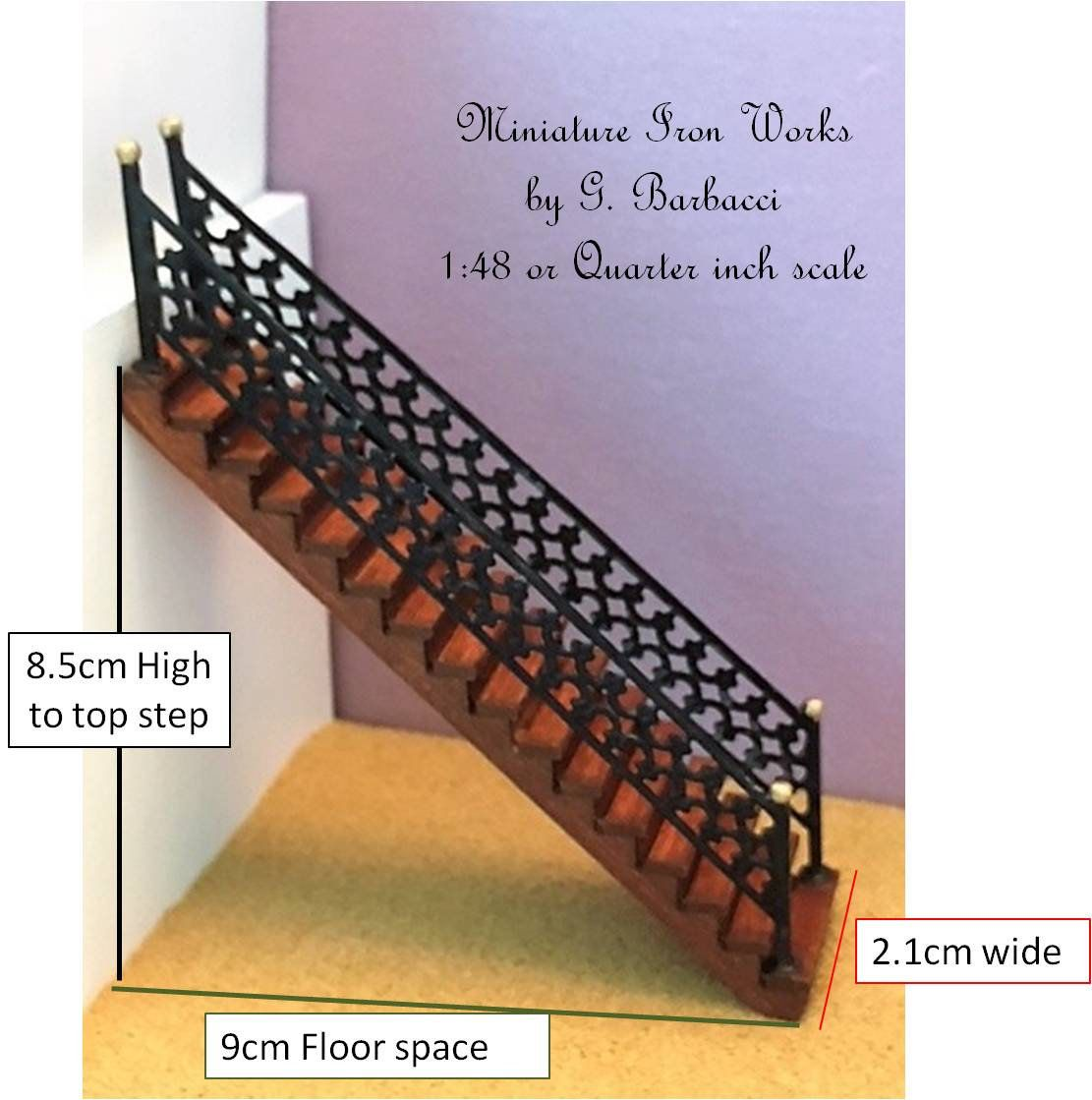 Best Dollhouse Miniature Staircase 1 48 Or Quarter Inch Scale 400 x 300