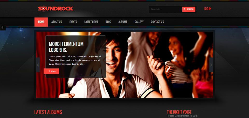 50 Awesome Musician & Band Website Themes to Download (Personal ...