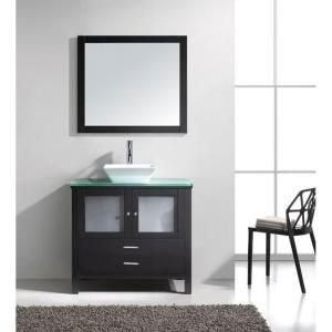Virtu USA Brentford 36 in. W x 22 in. D x 33 in. H Bathroom Vanity Cabinet Only in Espresso-MS-4436-CAB-ES at The Home Depot