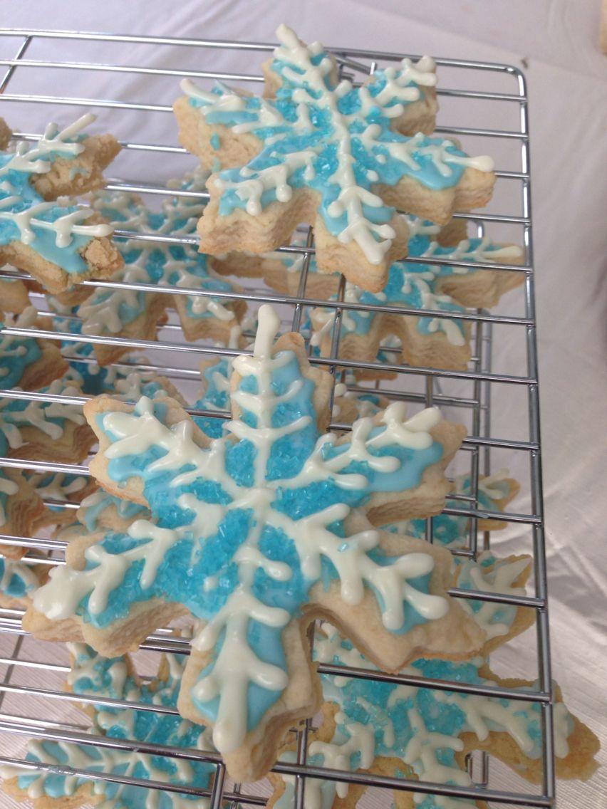 Frozen snowflake sugar cookies